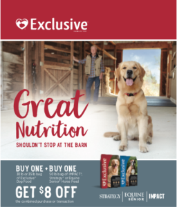 Exclusive Dog Food & Purina Horse Feed Promotion