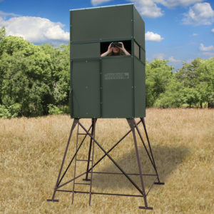 Texas Hunter 4'X4' Trophy Deer Blind With 4' Tower