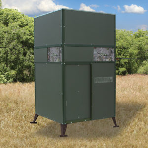 EXAS HUNTER 4'X4' TROPHY DEER BLIND WITH GROUND LEGS
