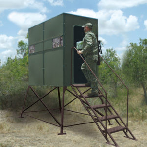 TEXAS HUNTER 4'X8' XTREME DEER BLIND WITH 4' TOWER