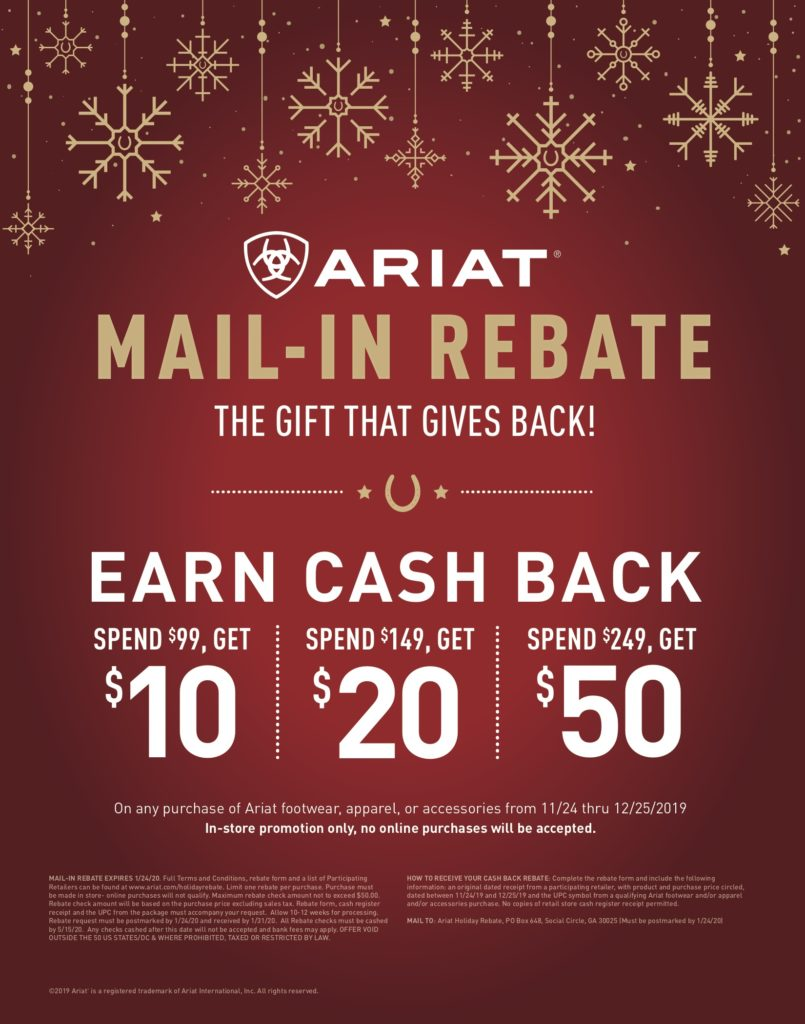 Ariat Mail In Rebate Offer