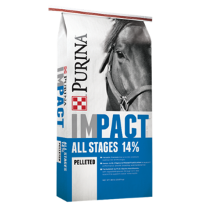 Purina Impact All STages 14% Pelleted Horse Feed