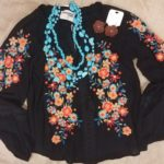 shirt and necklace floral