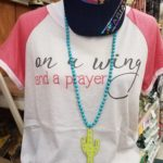 shirt and necklace
