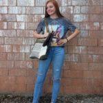 Model wearing back-to-school clothing, visit us on Tax Free Weekend 2021